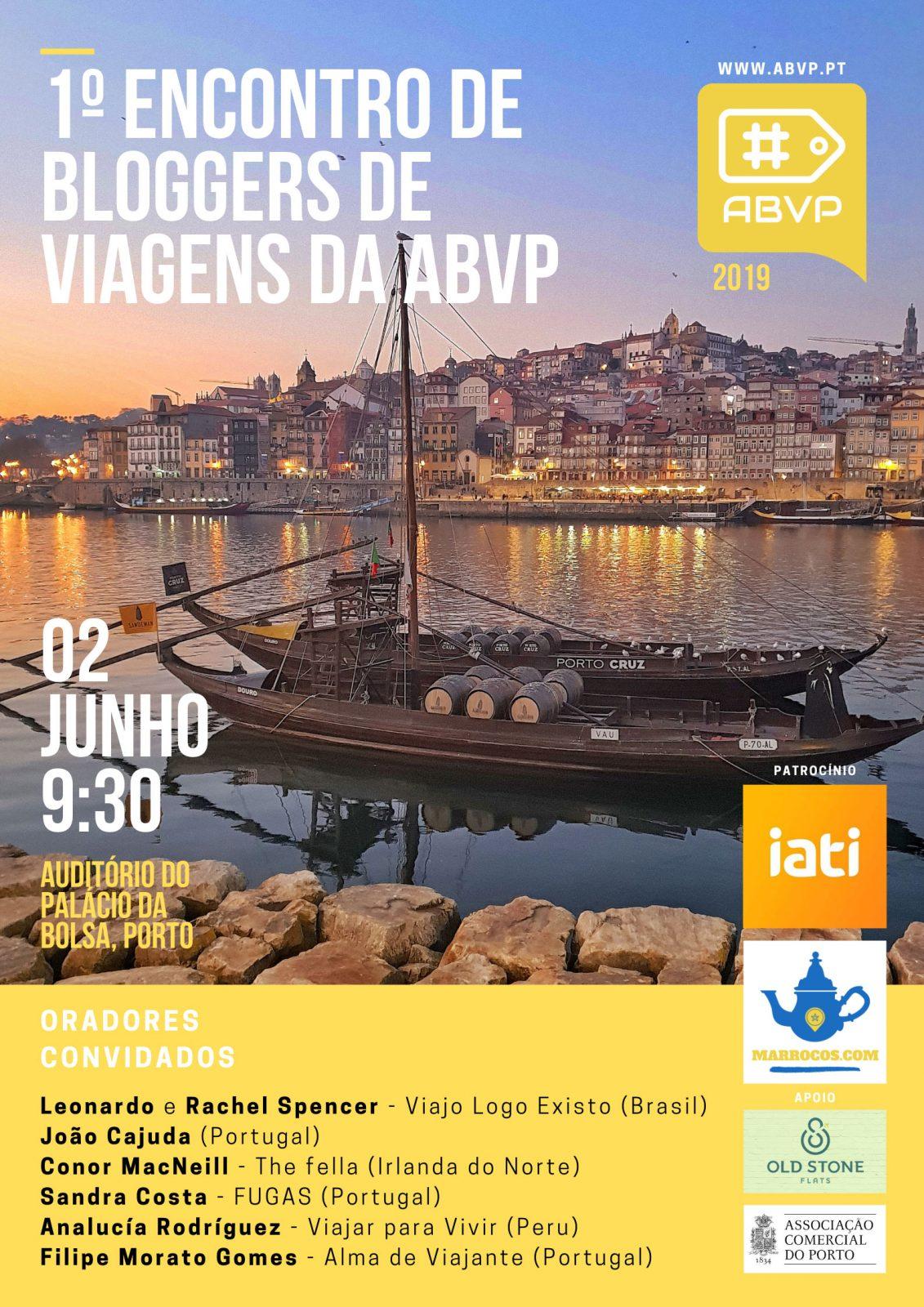 Cartaz do 1º Encontro de Bloggers de Viagens da ABVP
